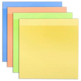 96 Units of Sticky Notes Assorted Colors 100 Sheets - Memo Holders and Magnets