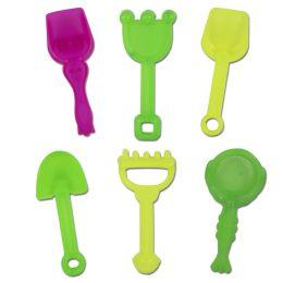 50 Units of Mini Hand Shovel & Rake 6 Piece Pack - Beach Toys