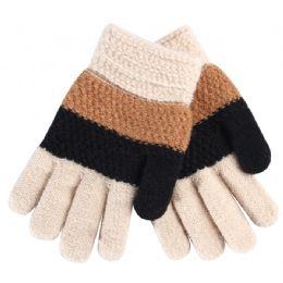 72 Units of Kids Gloves Color Stripes - Kids Winter Gloves
