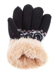 48 Units of Boys and kids fleece gloves - Kids Winter Gloves