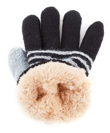 48 Units of Kids Gloves With Fur Lining - Kids Winter Gloves