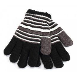 48 Units of Striped Kids Gloves - Kids Winter Gloves