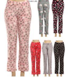 120 Units of Girls Warm Printed Pajama Pants In Assorted Color - Girls Leggings