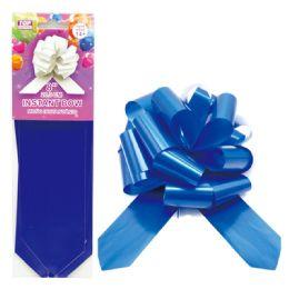 96 Wholesale Instant Bow Royal Blue