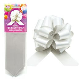 96 Wholesale Instant Bow Silver