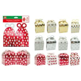 72 Units of 2 Count Gift Box Foldable - Christmas Gift Bags and Boxes