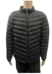 24 Units of Men's Winter Black Bubble Jacket - Men's Winter Jackets