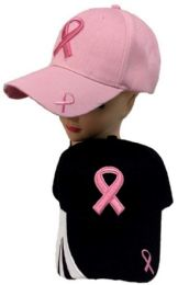 12 Wholesale Breast Cancer Awareness Ribbon Hat