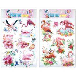 96 Units of 3d Sticker Flamingo - Stickers