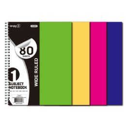 36 Units of 1 Subject 80 Count - Note Books & Writing Pads