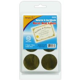 144 Units of Gold Seal Label - Reinforcement Stickers & Labels