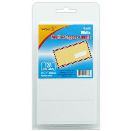 144 Units of Multi Use Label White - Reinforcement Stickers & Labels