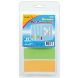 144 Units of Neon Label 15 Count - Reinforcement Stickers & Labels