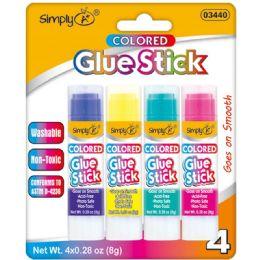 96 Wholesale 4 Piece Glue Sticks