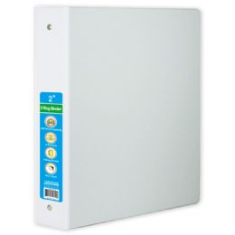 24 Wholesale Hard Cover Binder In White
