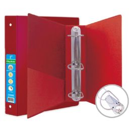 24 Wholesale Hard Cover Binder In Red