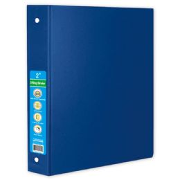 24 Wholesale Hard Cover Binder In Blue