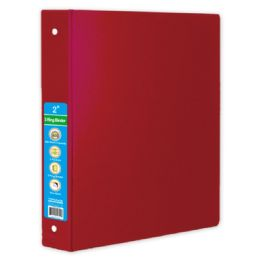 36 Wholesale Hard Cover Binder In Red