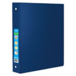 48 Wholesale Hard Cover Binder In Blue