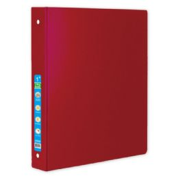 48 Wholesale Hard Cover Binder In Red