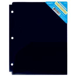 120 Wholesale Two Pockets Poly Portfolio Translucent Black