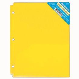 120 Wholesale Two Pockets Poly Portfolio Translucent Yellow