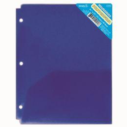 120 Wholesale Two Pockets Poly Portfolio Translucent Blue