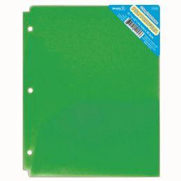 120 Wholesale Two Pockets Poly Portfolio Translucent Green