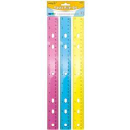 96 Units of 3 Piece Plastic Ruler Set - Rulers