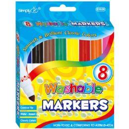 96 Bulk 8 Color Jumbo Washable Marker