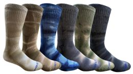 240 Units of Yacht & Smith Mens Ring Spun Cotton Tie Dye Crew Socks Size 10-13 Super Soft Arch Support - Men's Socks for Homeless and Charity