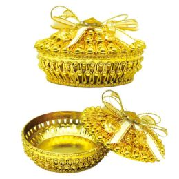 96 Wholesale Jewelry Box In Gold