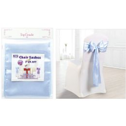 120 Wholesale Chair Sashes Light Blue