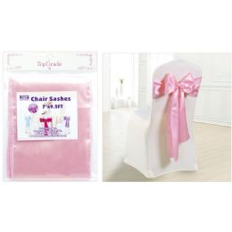 120 Wholesale Chair Sashes Light Pink