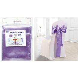 120 Wholesale Chair Sashes Lavender