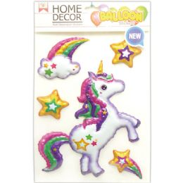 144 Units of Room Decoration Sticker Unicorn - Stickers