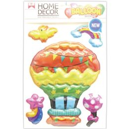 144 Units of Room Decoration Sticker Balloon - Stickers