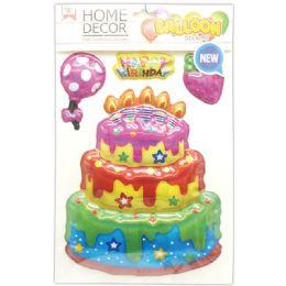 144 Units of Room Decoration Sticker Happy Birthday - Stickers