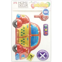 144 Units of Room Decoration Sticker Car - Stickers