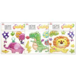 48 Units of Room Decoration Sticker Animal Pattern - Stickers