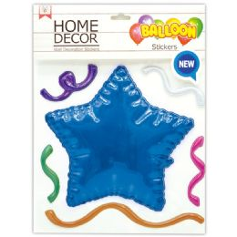 144 Wholesale Room Decoration Sticker Star Pattern In Royal Blue
