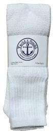 240 Units of Yacht & Smith Men's White Cotton Terry Tube Socks,30 Inch Long Athletic Tube Socks, Size 10-13 - Mens Tube Sock