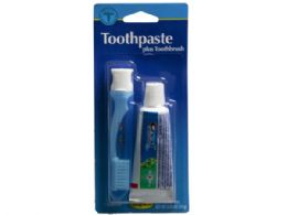 72 Units of Travel Toothbrush And .85 Oz Crest Toothpaste Kit - Toothbrushes and Toothpaste
