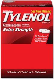50 Bulk Tylenol Extra Strength 2pk Box