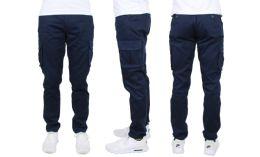 24 of Flex Cotton Stretch Cargo Pants SliM-Fitting Cargo Pants Navy
