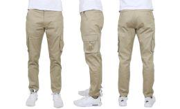 24 of Flex Cotton Stretch Cargo Pants SliM-Fitting Cargo Pants Khaki