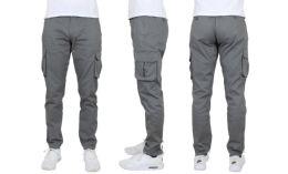 24 of Flex Cotton Stretch Cargo Pants SliM-Fitting Cargo Pants Gray