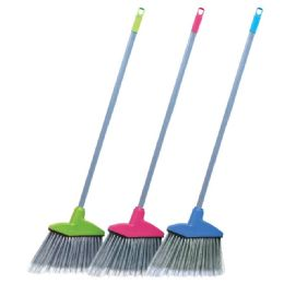 24 Units of Broom With Metal Handle - Dust Pans