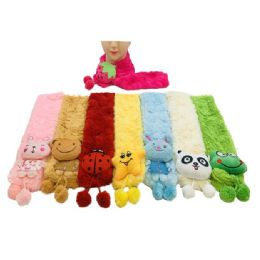 12 Units of Kid's Winter Cartoon Character Scarves - Winter Scarves