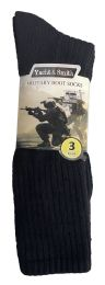 120 Wholesale Yacht & Smith Men's Army Socks, Military Grade Socks Size 10-13 Solid Black